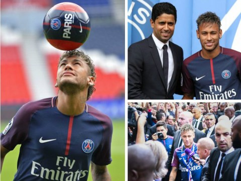 Neymar PSG unveiling in pictures: Brazilian paraded by new club after world record transfer