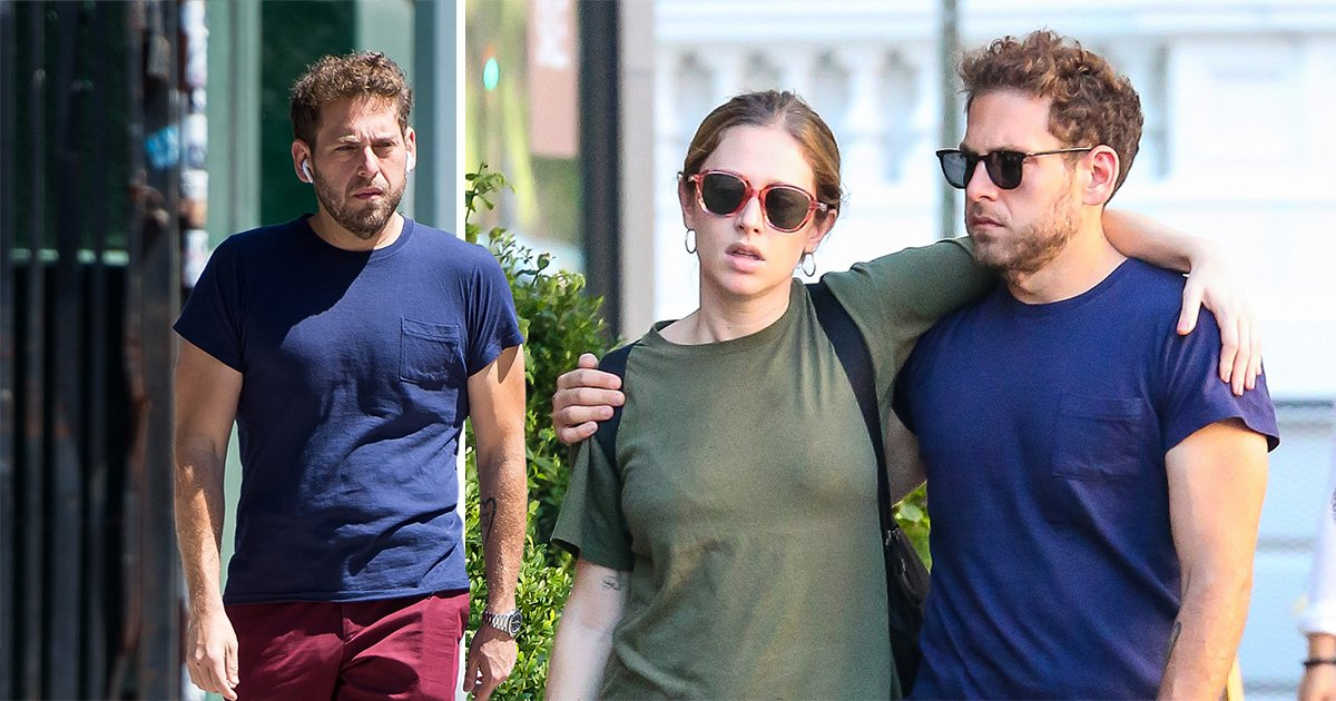 Jonah Hill's lean figure looks better than ever as he roams the streets of New York