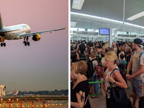 Horrific queues and delays for holiday makers due to industrial action at Barcelona airport