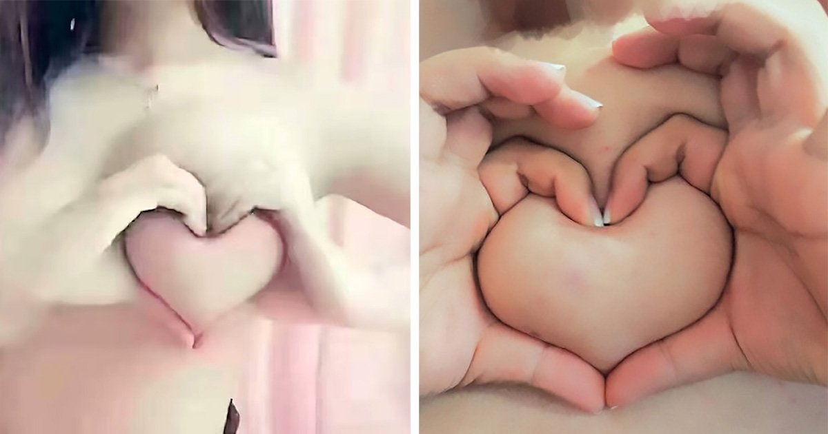 People are squishing their boobs into hearts, for reasons we don't entirely understand