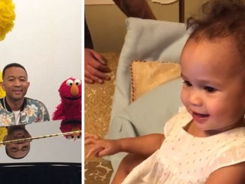 John Legend's daughter realises her dad was on Sesame Street in a clip that will melt your cold heart