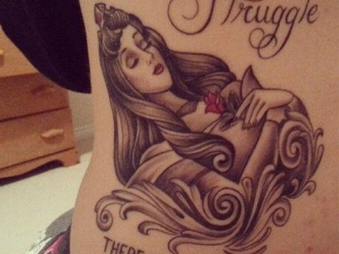 Student gets Sleeping Beauty tattoo to represent illness that makes her sleep 20 hours a day
