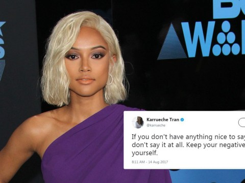Karrueche Tran responds to miserable body shamers that 'shame natural bodies but praise fake ones'