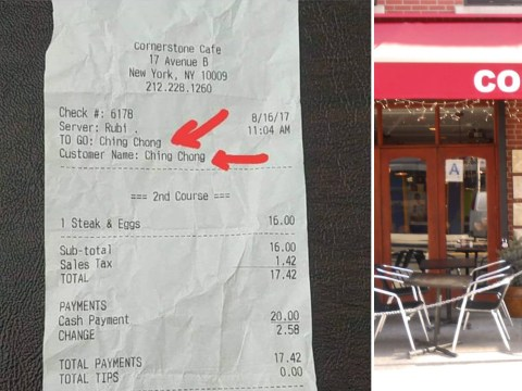 'Racist' waiter fired for writing 'Ching Chong' on Asian customer's receipt