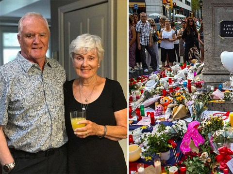 Elderly man pictured next to injured wife after Barcelona attack confirmed dead