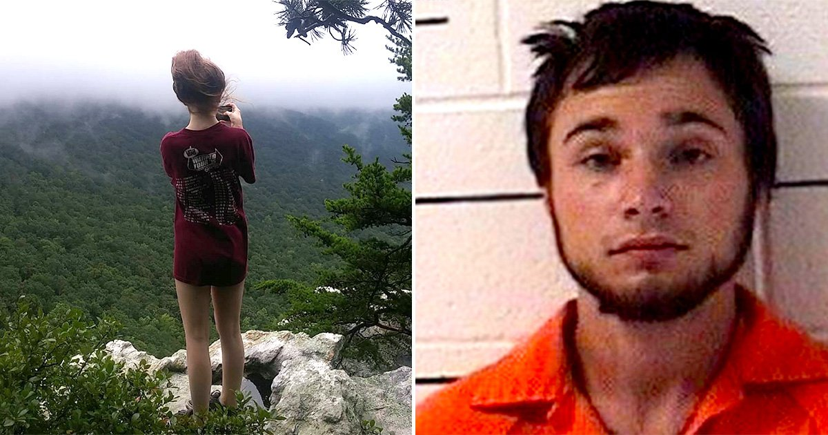 Final picture of girl, 18, before she was pushed off cliff by boyfriend