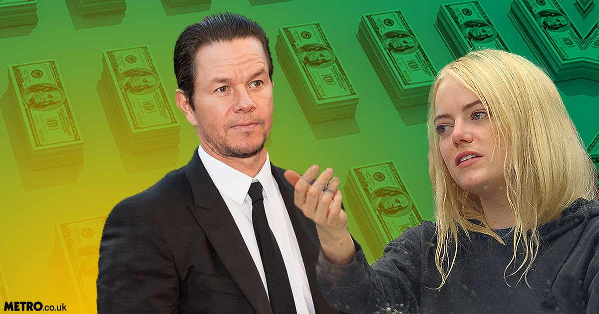 Highest paid actor Mark Wahlberg earned $42m more than highest paid actress Emma Stone as the Hollywood pay gap is exposed