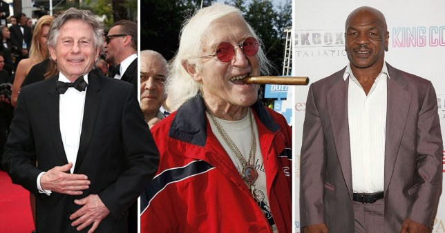 roman polanski, jimmy savile and mike tyson