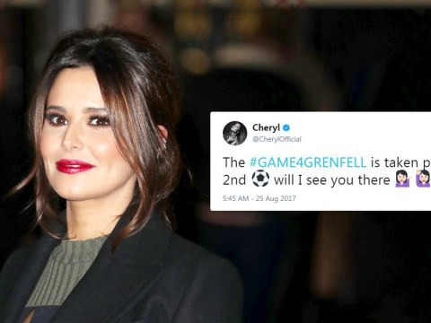 Cheryl confirms first public appearance since birth of baby Bear at #Game4Grenfell