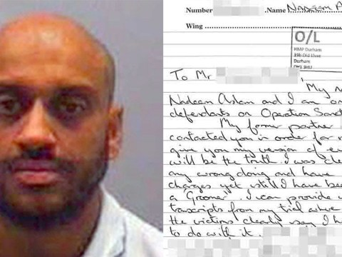 Dealer who supplied drugs to grooming gang writes letter from prison