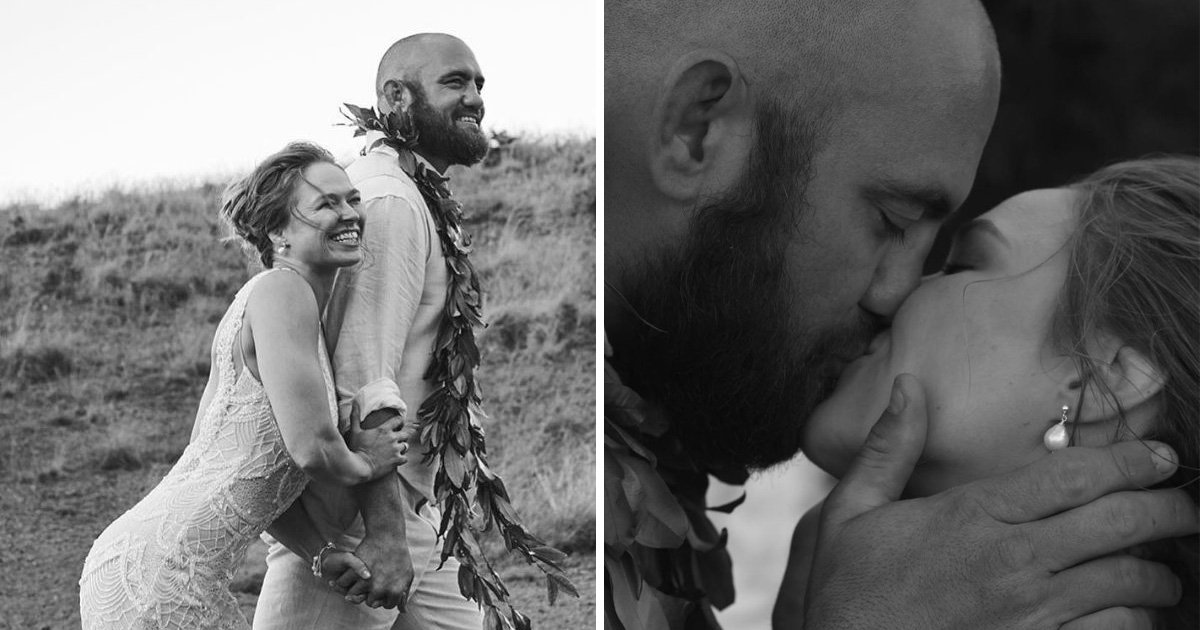 UFC fighter Ronda Rousey marries her fellow fighter Travis Browne in stunning Hawaii ceremony
