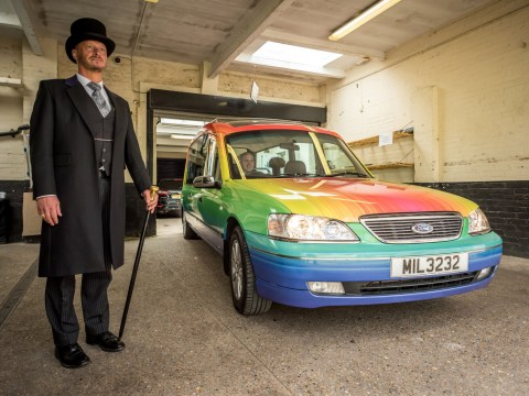 We've found the hearse we want to be buried in and it's made of rainbows