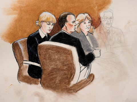 The courtroom sketches of Taylor Swift are… interesting