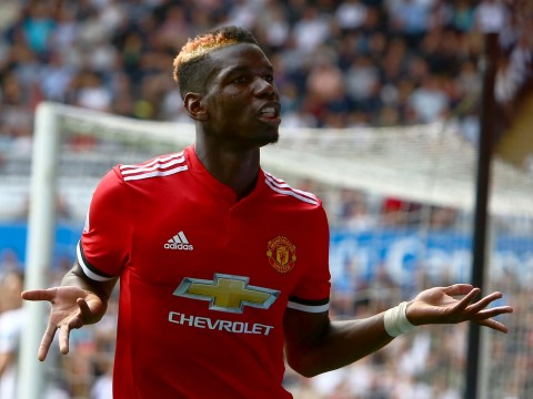 Paul Pogba joked with Jon Moss when referee was deciding whether to send off Manchester United star