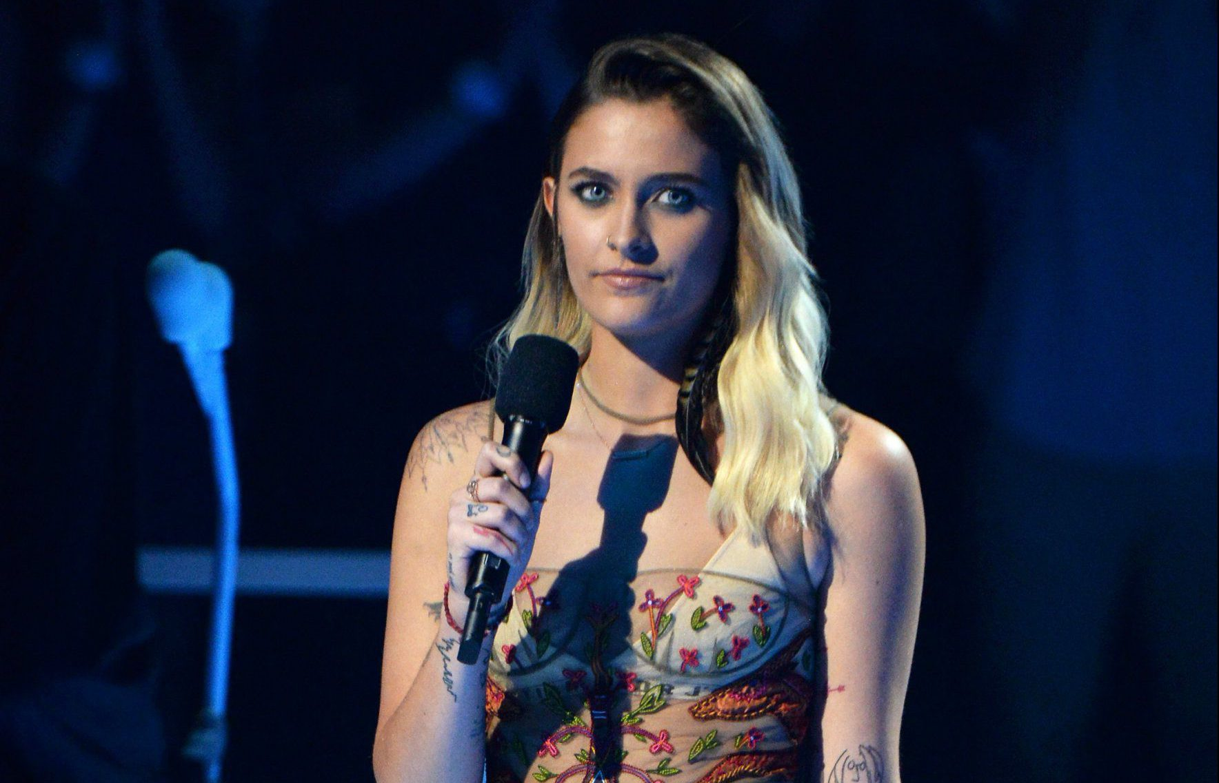 Paris Jackson urges fans to fight against 'Nazi, white supremacist jerks' after Charlottesville clashes in MTV VMAs speech