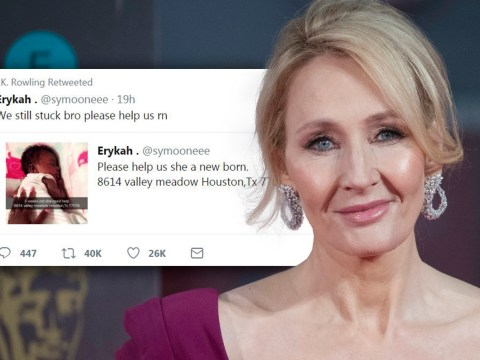 JK Rowling helps mother and newborn as she shares desperate plea for help in Houston flood