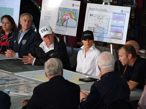 Trump said 'what a crowd, what a turnout' to Hurricane Harvey victims