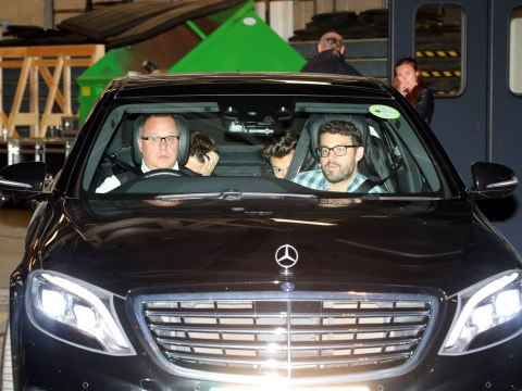 Harry Styles spotted hiding in the back of a Mercedes after filming BBC special with Nick Grimshaw