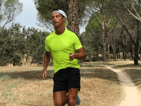 Cristiano Ronaldo trains by himself ahead of Real Madrid's Super Cup clash with Manchester United