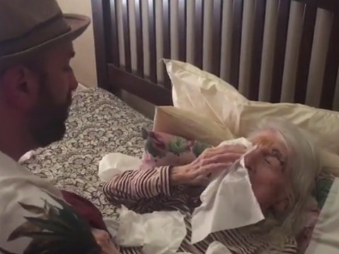Man surprised his grandma with the sweetest song on her 98th birthday