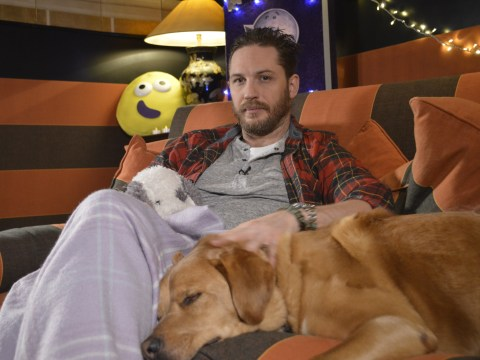 Watch Tom Hardy 'cuddle up' with his late dog Woody in final CBeebies Bedtime Story