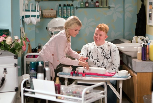 Bethany and Craig bond in the salon in Coronation Street