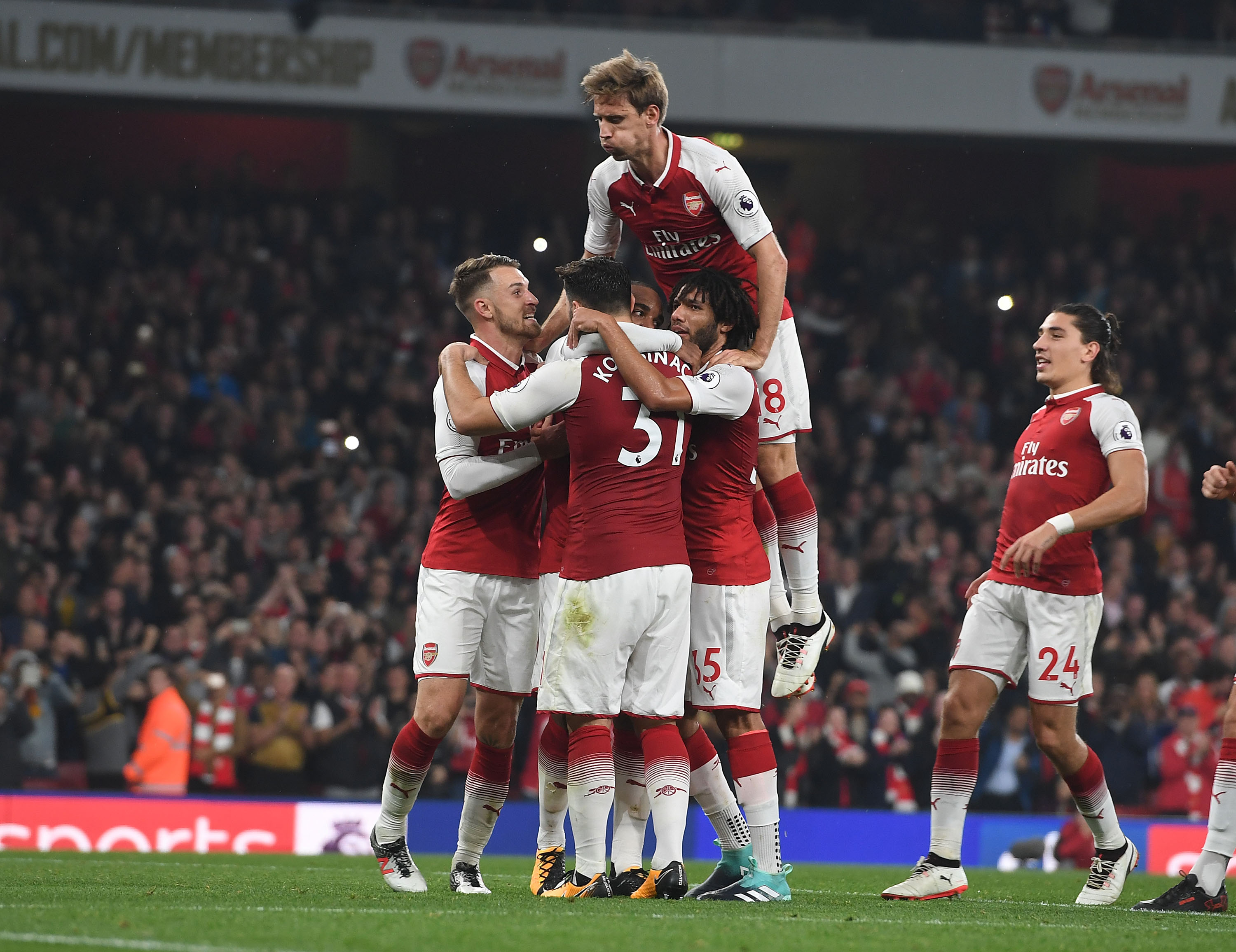 Arsenal's Nacho Monreal leads club for tackles, interceptions and clearances