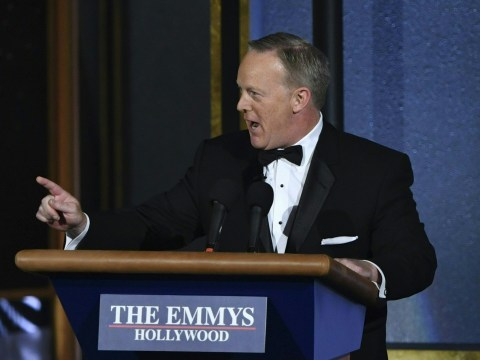 The Emmys allowed Sean Spicer in on the joke – when will Hollywood realise Trump's administration is not a reality show?