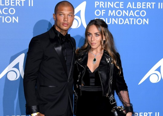 """MONACO - SEPTEMBER 28: Jeremy Meeks and Chloe Green attend the inaugural """"Monte-Carlo Gala for the Global Ocean"""" honoring Leonardo DiCaprio at the Monaco Garnier Opera on September 28, 2017 in Monaco, Monaco. (Photo by Venturelli/Getty Images for Prince Albert II of Monaco Foundation )"""