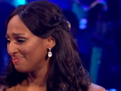 Alexandra Burke cries after making her Strictly debut with emotional waltz