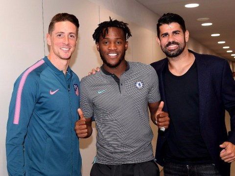 Michy Batshuayi trolls Diego Costa after scoring winner against Atletico Madrid
