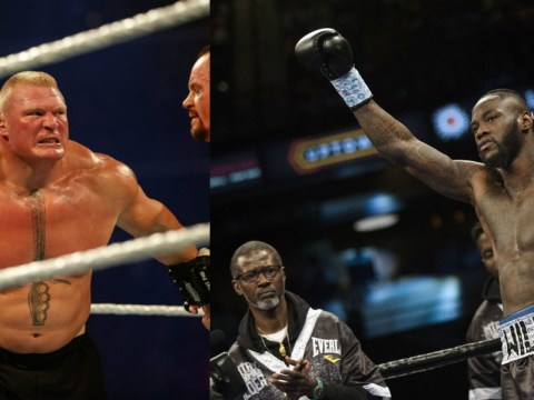 Heavyweight boxer Deontay Wilder open to fighting Brock Lesnar in the UFC for the 'right price'