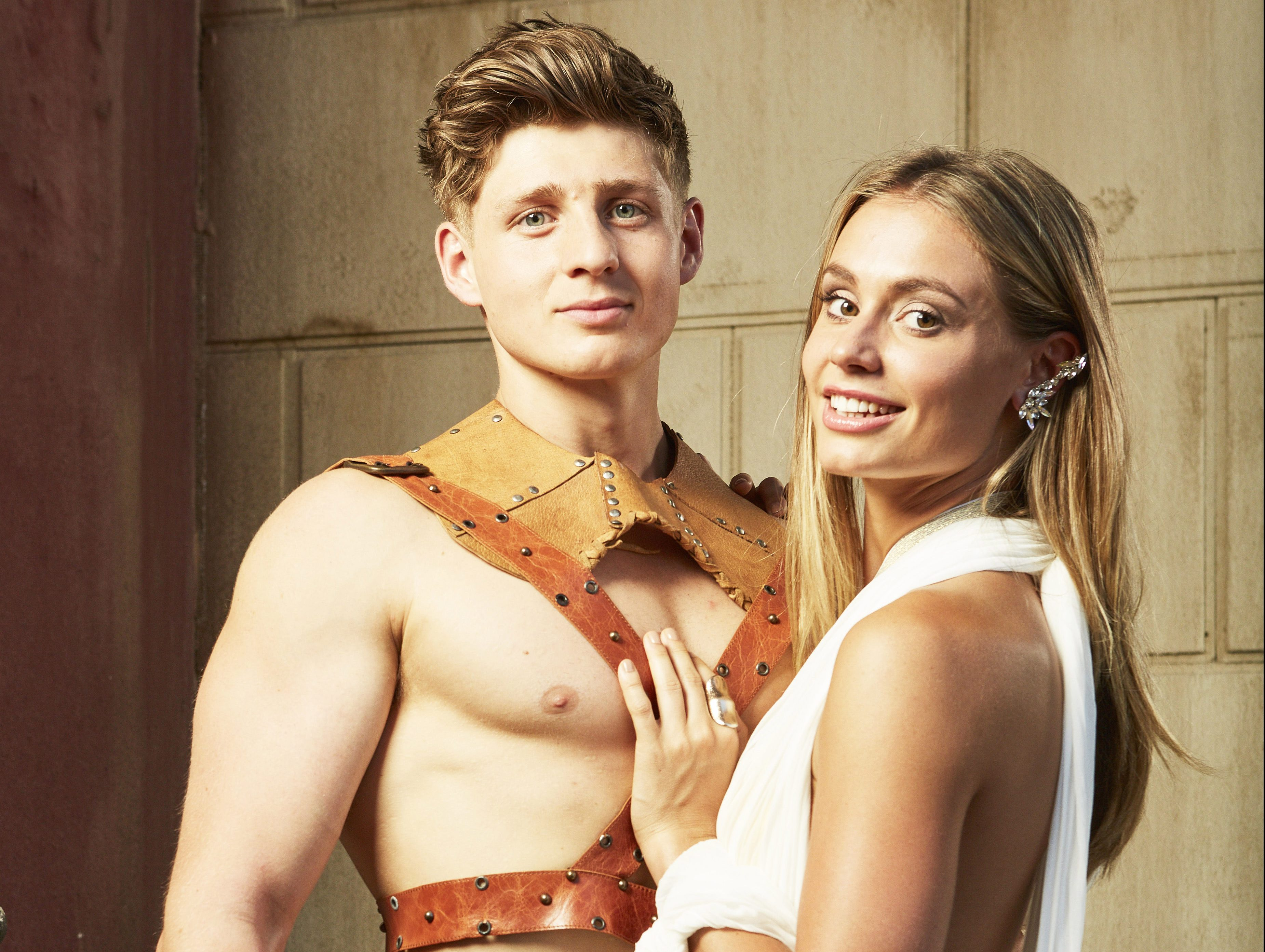 Meet the Bromans couples: Tom and Rhiannon are a pretty physical pair
