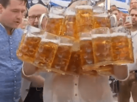 This legend just broke the world record for holding the most number of beers
