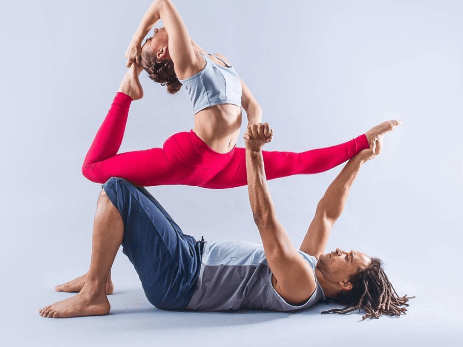 If you want to fly really high, it's time to try AcroYoga