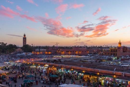 The famous Djemaa al-Fna in Marrakesh