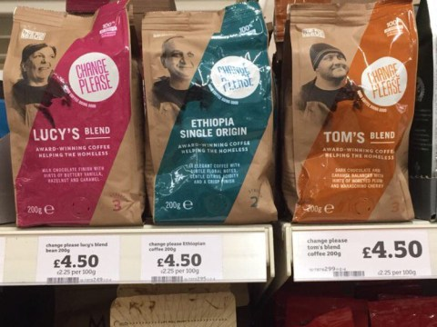 Coffee made by the homeless goes on sale in Sainsbury's