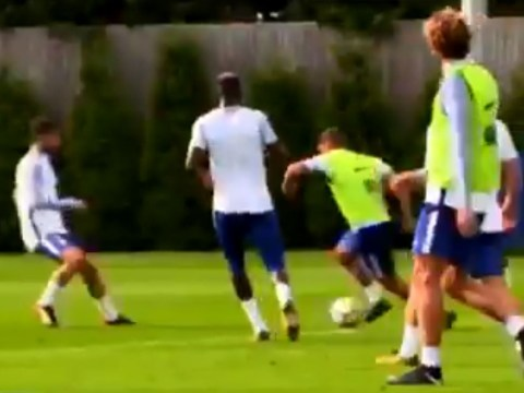 Danny Drinkwater ruins Cesc Fabregas with sublime skill in Chelsea training ahead of Leicester clash