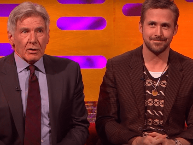 Harrison Ford keeps forgetting Ryan Gosling's name and it's painful to watch