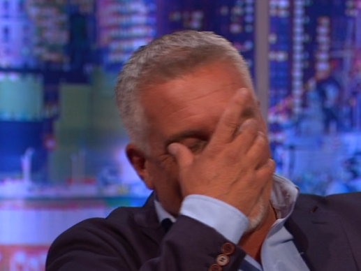 Paul Hollywood goes ruby red as Jonathan Ross teases him about Prue Leith flirting