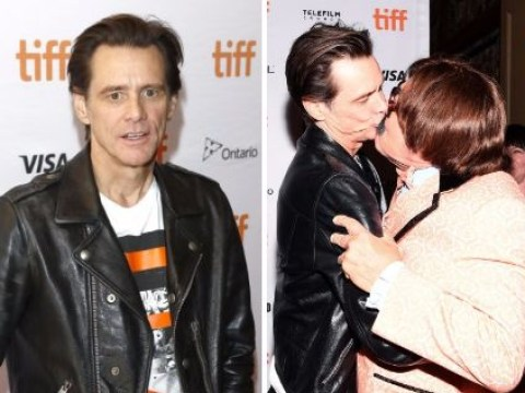 Jim Carrey walks red carpet for the first time since his spectacularly awkward interview and explains what he was going on about