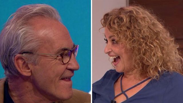 Nadia Sawalha reveals she is Larry Lamb's cousin as he and George appear on Loose Women