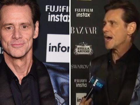 Jim Carrey gives masterfully awkward interview at New York Fashion Week