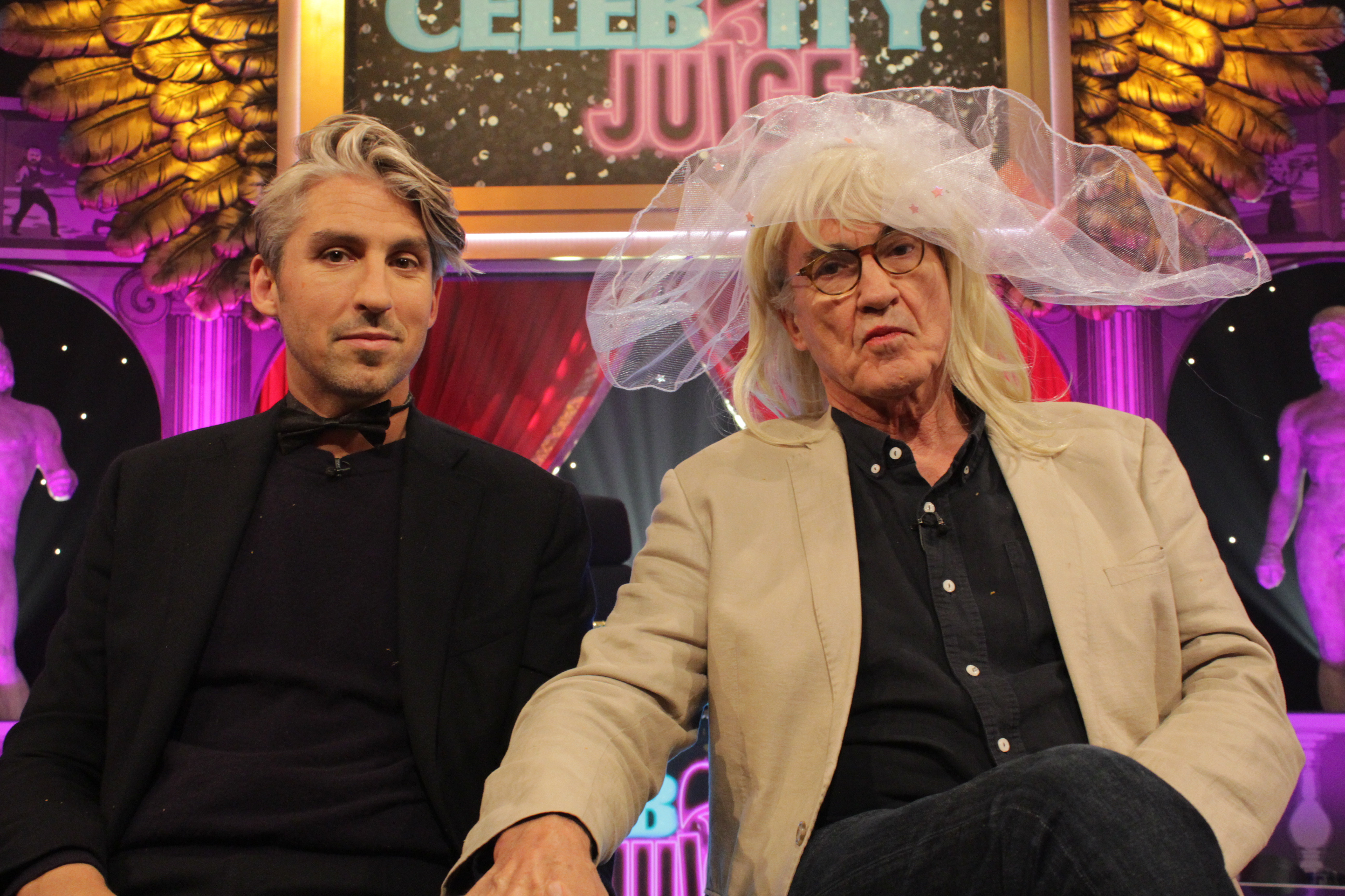 Larry Lamb brazenly reveals on Celebrity Juice how he got a 'straight on' during first ever kissing scene