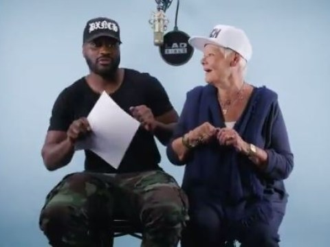 Judi Dench rapping with Lethal Bizzle is a thing and it's pure joy
