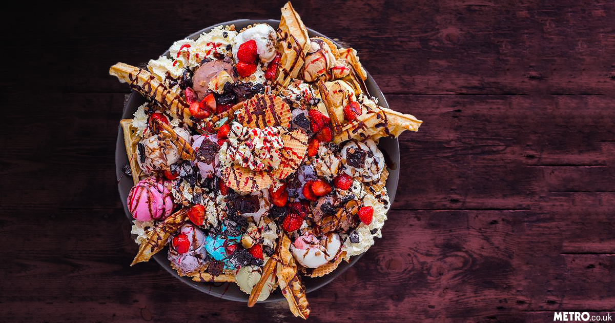 Ice cream parlour's record-breaking dessert is 3,800 calories of deliciousness