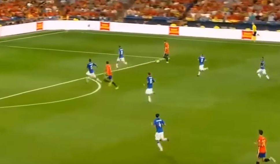 Alvaro Morata displays sublime pace and movement to finish off Spain goal against Italy