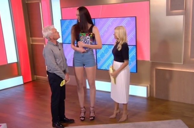 Woman with worlds longest legs