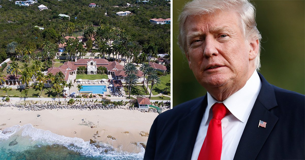 Trump's £21.5milllion mansion is directly in the path of Hurricane Irma