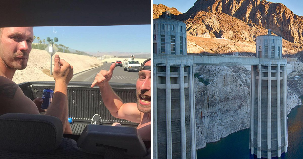 'Luckiest man alive' becomes first person to swim across Hoover Dam